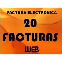 Factura Electrónica Web 20 Timbres O Facturas Con Programa