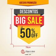 Adesivo Vitrine De Loja - Promoção Off Sale - Desconto