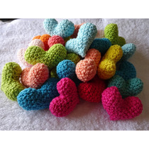 Souvenirs Corazones Tejidos Crochet Nacimiento Contraentrega