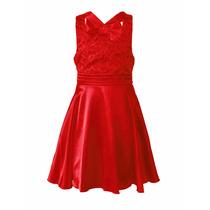 Vestido Nena De Fiesta, Espalda Moño, Brishka, N-0060