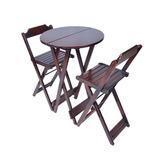 Jogos De Mesa Bar Bistrô Dobrável 2 Cadeiras Em Madeira