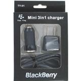 Kit Blackberry 3 En 1 Taco, Cable Y Cargador Para Carro