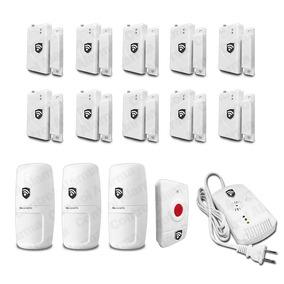 Kit 14 Sensores Y Detecto De Gas Alarma Casa Negocio Oficina