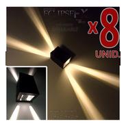 Baliza Señalizadora Pared Exterior Luz Transformable Pack X8