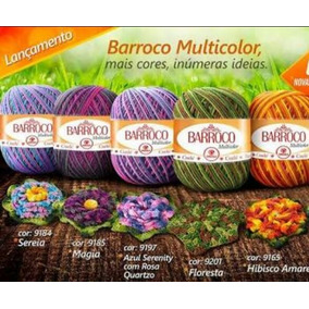 12 Barroco Multicolor 226mts Escolha As Cores Frete Grátis