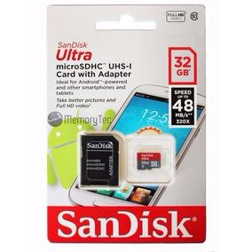 Cartão Micro Sd Ultra 32gb Sandisk 48mb/s Classe 10 Original