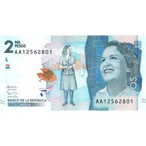 Grr-billete De Colombia 2000 Pesos 2015, Débora Arango Pérez