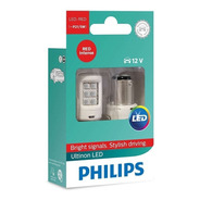 Par De Lâmpadas Philips P21/5 Led Vision 2 Polos Red 12v