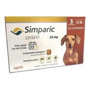 Simparic Para Cães De  5 A 10 Kg - Antipulgas  3 Comprimidos