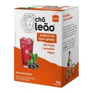 Chá Leão Água Gelada - Chá Mate Com Groselha Negra 10 Sachês