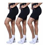 Kit 3 Bermudas Fitness Plus Size #yoga #academia #pilates