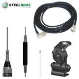 Kit Steelbras Antena Px Ap0187 + Cabo 5m + Suporte Em Aço