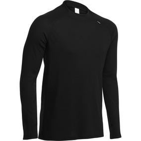 Blusa Segunda Pele Simple Warm Masculino Wed´ze Preta