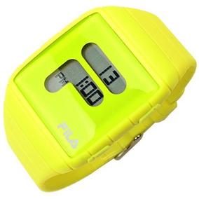 Reloj Fila Caucho Digital Amarillo Neon Yellow Lemon Dama