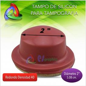 Tampo Redondo Para Tampografía De 50mm De Diámetro Densdia40