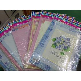Papel De Carta Perfumado Kit C/10 Pacotes Com 8 Folhas Cada