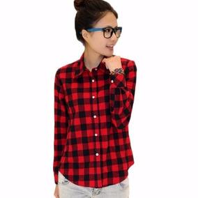 Camisa Viscose Xadrez Vermelha E Preta Importada Pronta Entr