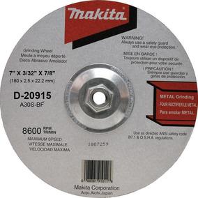 Disco Abras Corte Metal Makita 7 X3/32 X7/8 Pulg D20915