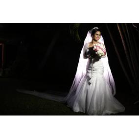 Vestido De Noiva. Branco Modelo Sereia.