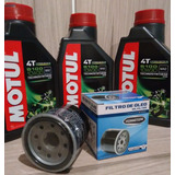 Kit Troca Oleo Motul 5100 10w30 3un + Filtro Cb 600 F Hornet