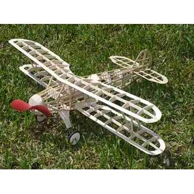 Kit De Avion Con Motor A Goma Foke Wulf En Madera Balsa