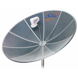 Antena Parabólica Telada 1,70 Telesonic + Lnbf Mono Banda C