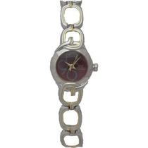 Reloj Q&q Gb61-405y Dorado / Plateado Femenino