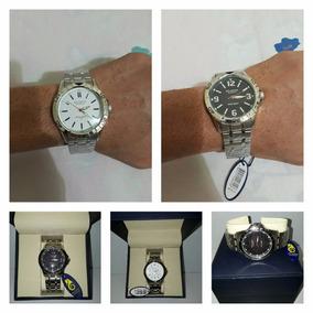 Relógio Atlantis Original Aço De Homem Prata Lançamento Top