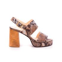 Natacha Zapato Mujer Sandalia Cuero Reptil Suela #3665