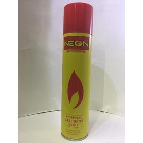 Lidert Gas Butano Neon 300ml Encendedores Y Otros 5 Puntas