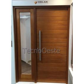 Puerta + Portada Oblak Madera 2331 Con 1 Lateral Y Barral