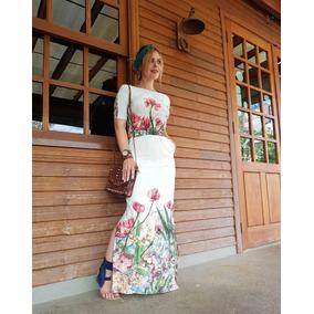 Roupas Femininas Vestido Longo Moda Evangélica 2807