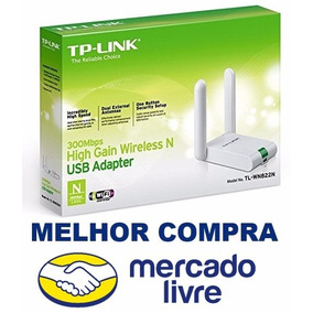 Adaptador Wireless Usb Tp-link Tl-wn822n 300mbps 2 Antenas