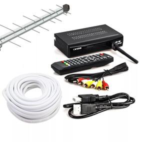 Conversor Digital Barato+antena+20 Metros De Cabo+conectores