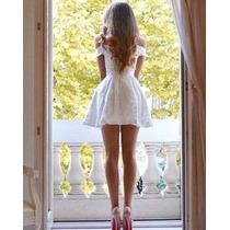 Vestido Em Renda Rodado Princesa, Com Bojo A038