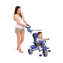 Triciclo Infantil Smart Comfort Carrinho Azul Novo Menino