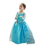 Disfraz Vestido Infantil Princesa Elsa Frozen Tallas 2 A 10