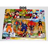 Dragon Ball Z Kit Com 3 Personagens Goku Brinquedo Mod 0