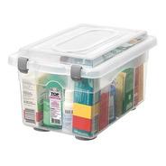 Caixa Organizadora Plastica Sanremo Transparente 4,3 Litros