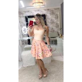 Vestido Boneca Godê Alcinha Com Bojo Renda E Piquet