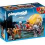 Retromex Playmobil 6005 Caballeros Halcon Y Carreta Medieval