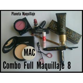 Maquillaje Combo Mac Labial Compacto Máscara Delineador