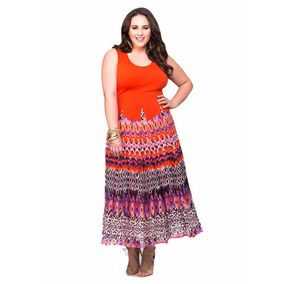 Vestido Colorido Casual Ashley Stewart Talle Especial!