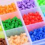 Caja 12 Colores Hama Beads+ Base 8cm+pinza+papel