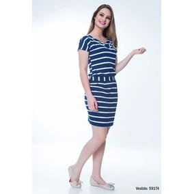 Vestido Malha Listrado Coleção Primavera Verão 2017