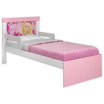 Cama Infantil Barbie Happy Com Grade De Proteção Lateral