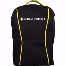 Mochila Mortal Kombat X - Preta E Amarela - Promoção!