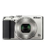 Cámara Digital Delgada Con Zoom 35x A900 Silver Nikon 20 Mpx
