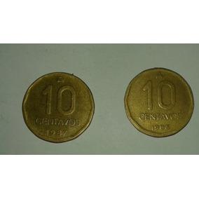 Moneda Argentina 10 Centavos De Austral Año 1987 1986