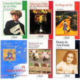 Paquete Infantil 6 Libros Ana Frank Principito Mago Oz*